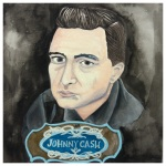 100 Southerners portraits by Lydia Walls: Johnny Cash