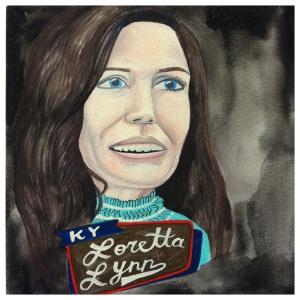 100 Southerners portraits by Lydia Walls: Loretta Lynn