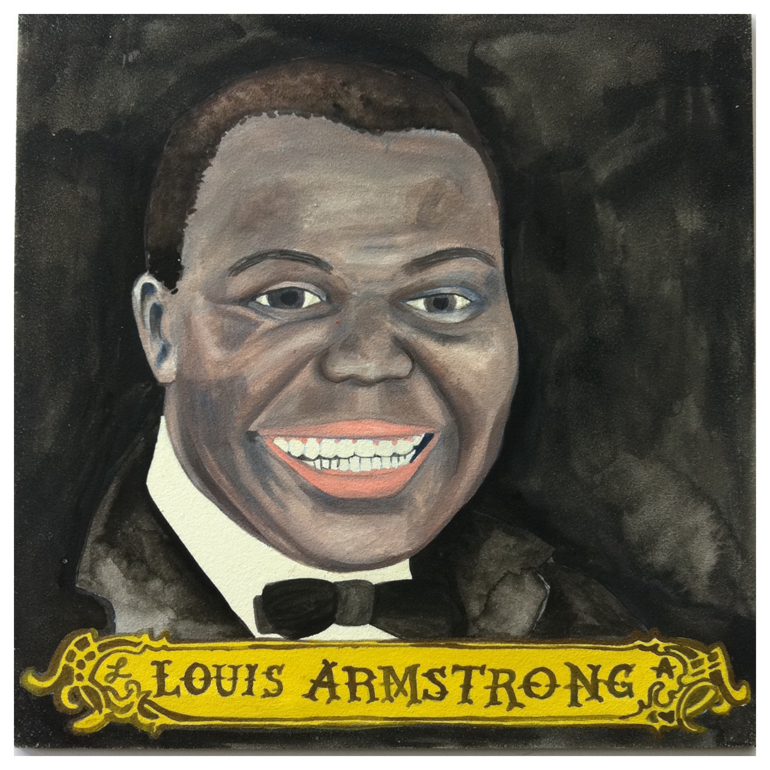 100 Southerners portraits by Lydia Walls: Louis Armstrong