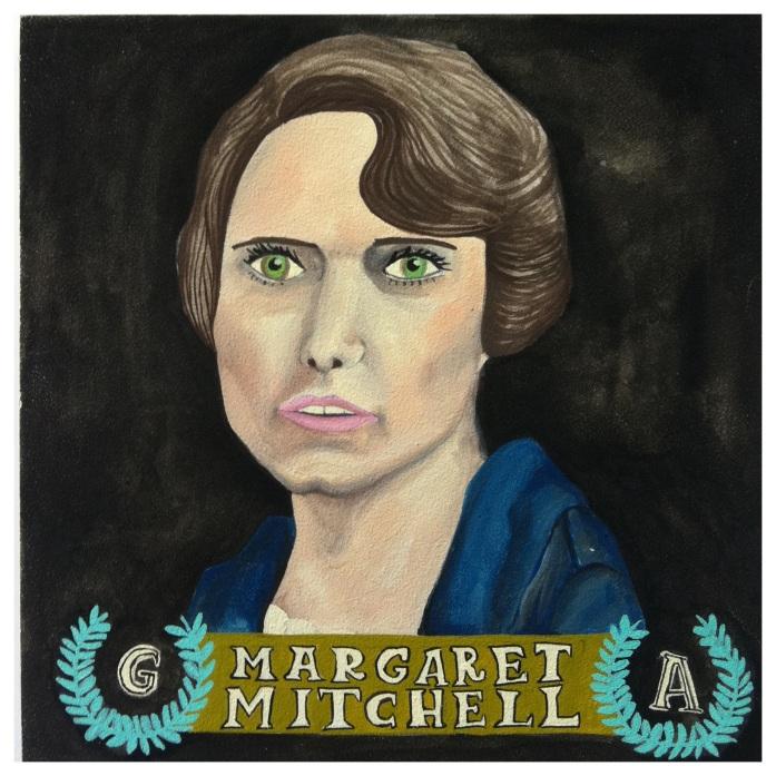 custom margaret mitchell portrait by lydia walls