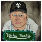 100 Southerners portraits by Lydia Walls: Mickey Mantle