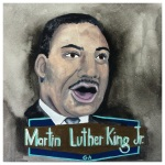 100 Southerners portraits by Lydia Walls: Martin Luther King Jr.