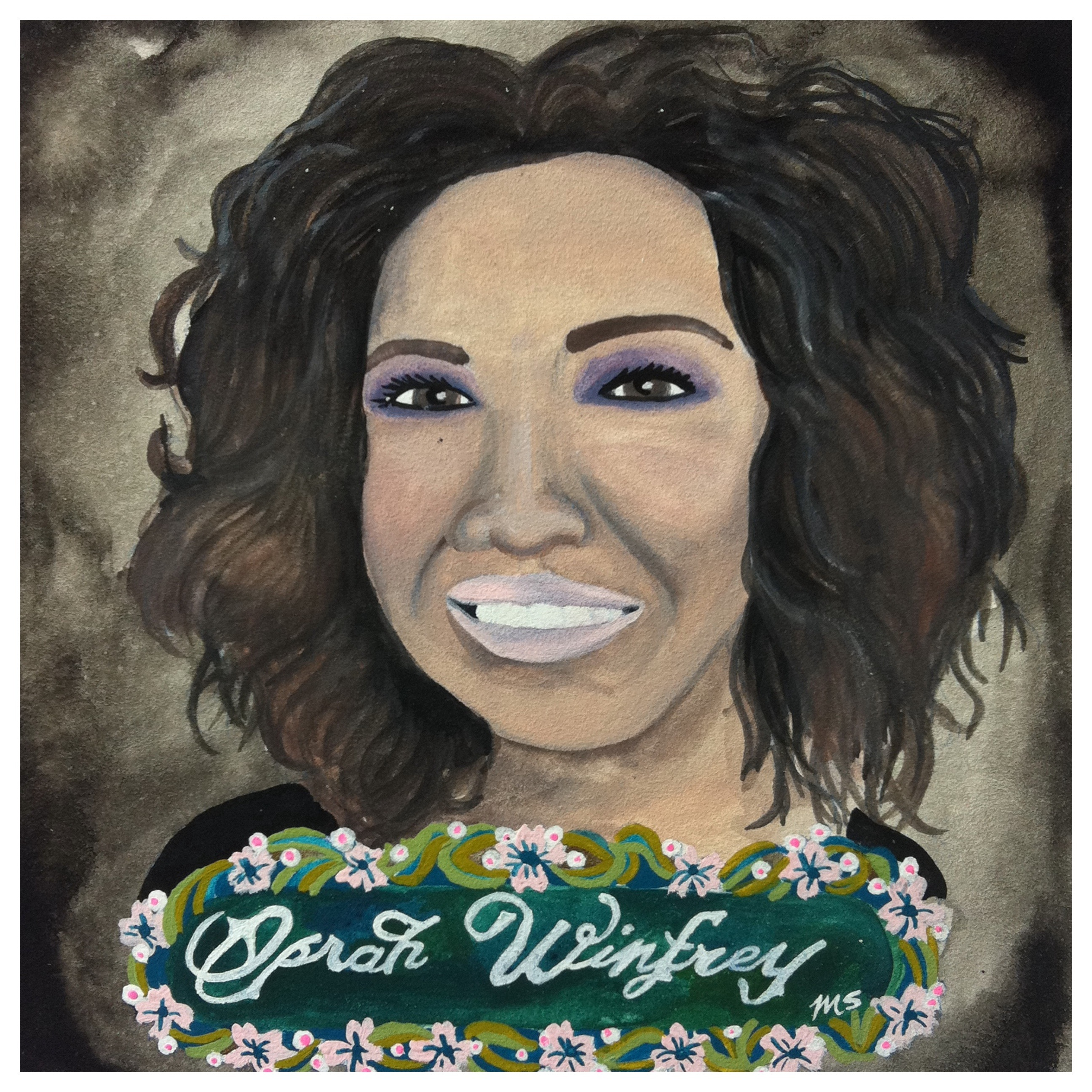 100 Southerners portraits by Lydia Walls: Oprah Winfrey