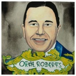 100 Southerners portraits by Lydia Walls: Oral Roberts