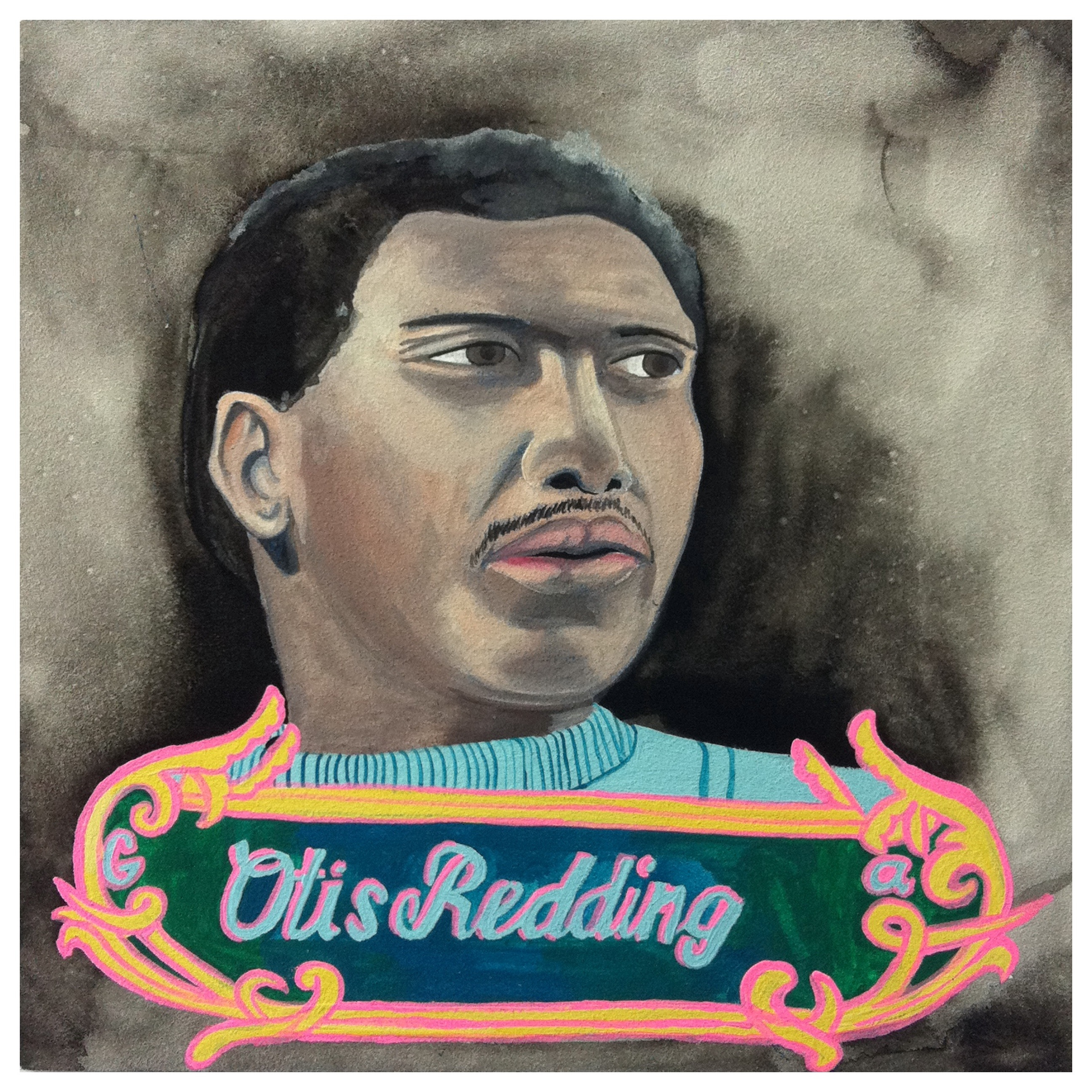 100 Southerners portraits by Lydia Walls: Otis Redding