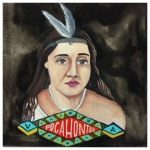 100 Southerners portraits by Lydia Walls: Pocahontas