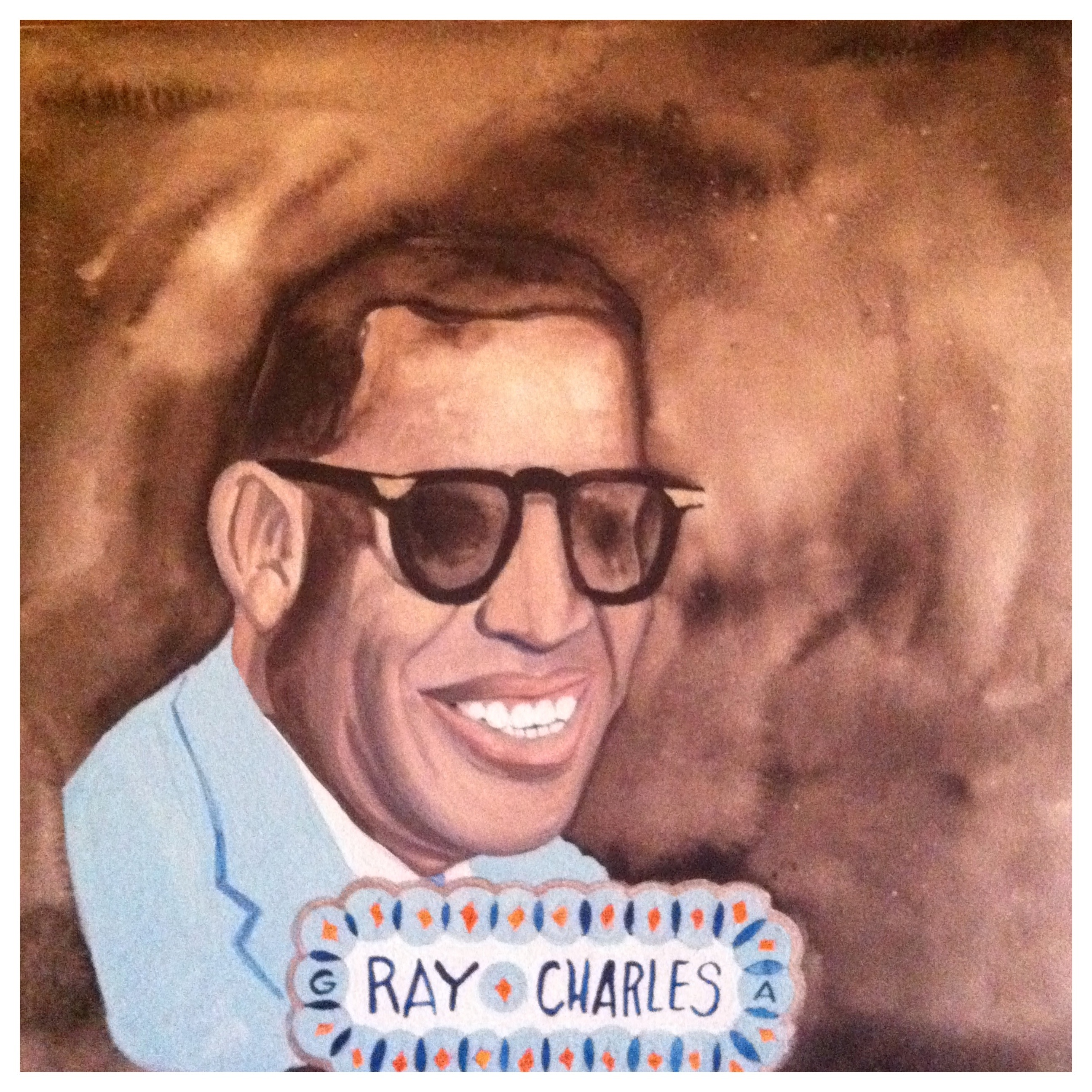 100 Southerners portraits by Lydia Walls: Ray Charles