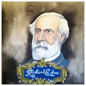 100 Southerners portraits by Lydia Walls: Robert E Lee