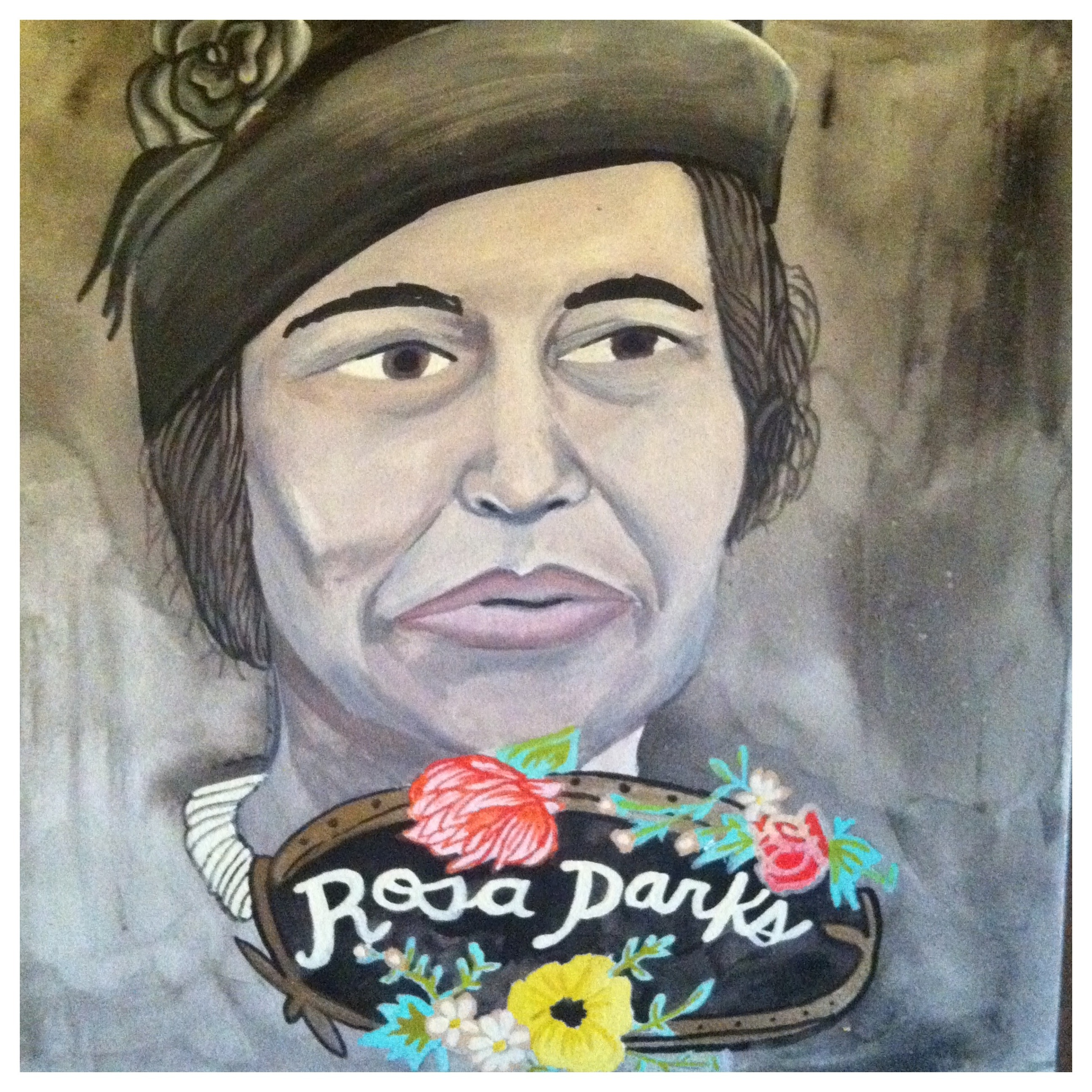 custom painting rosa parks portrait lydia walls art