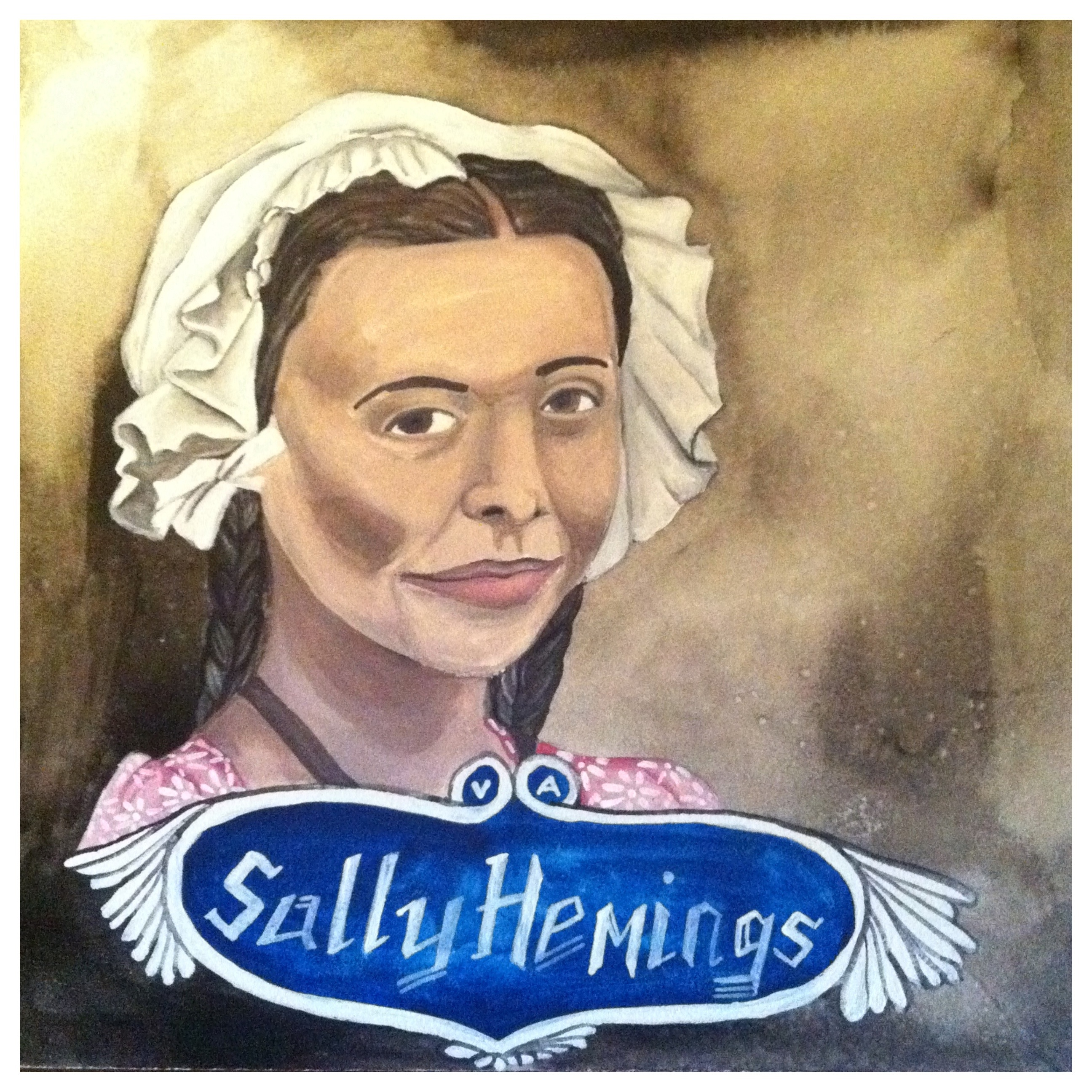 100 Southerners portraits by Lydia Walls: Sally Hemings