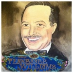 100 Southerners portraits by Lydia Walls: Tennessee Williams