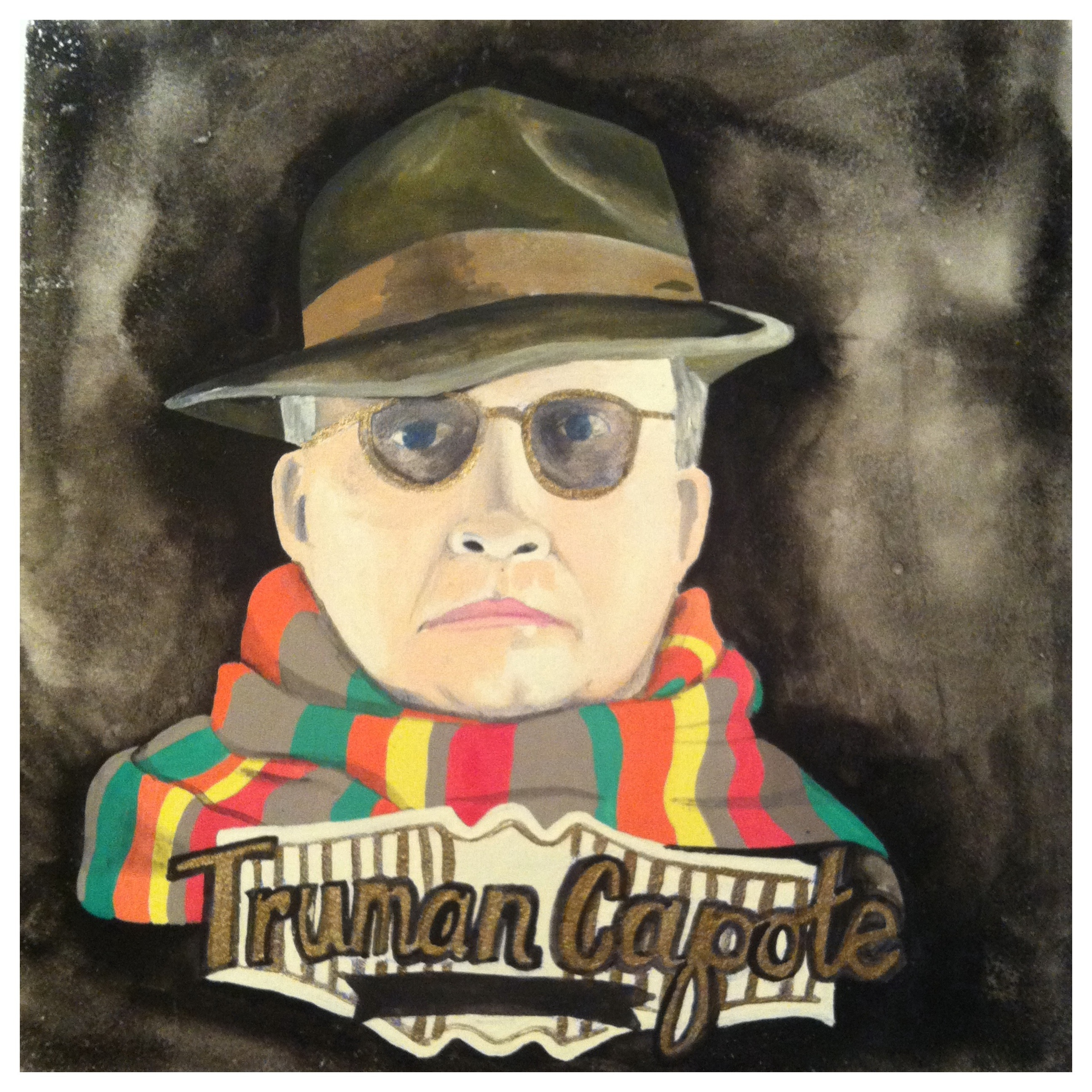 100 Southerners portraits by Lydia Walls: Truman Capote