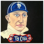100 Southerners portraits by Lydia Walls: Ty Cobb