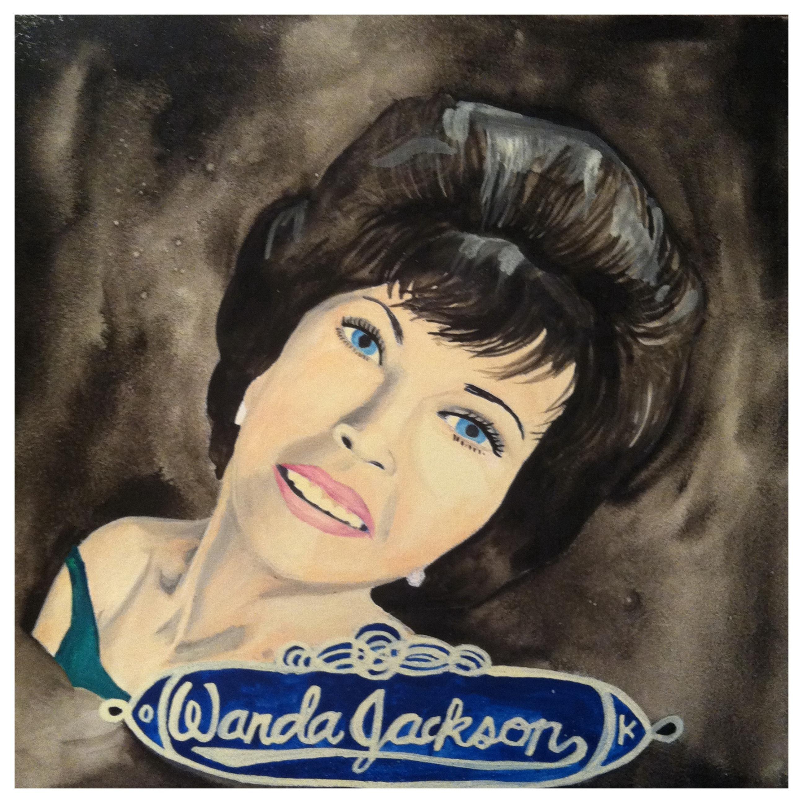 100 Southerners portraits by Lydia Walls: Wanda Jackson