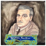 100 Southerners portraits by Lydia Walls: William Faulkner