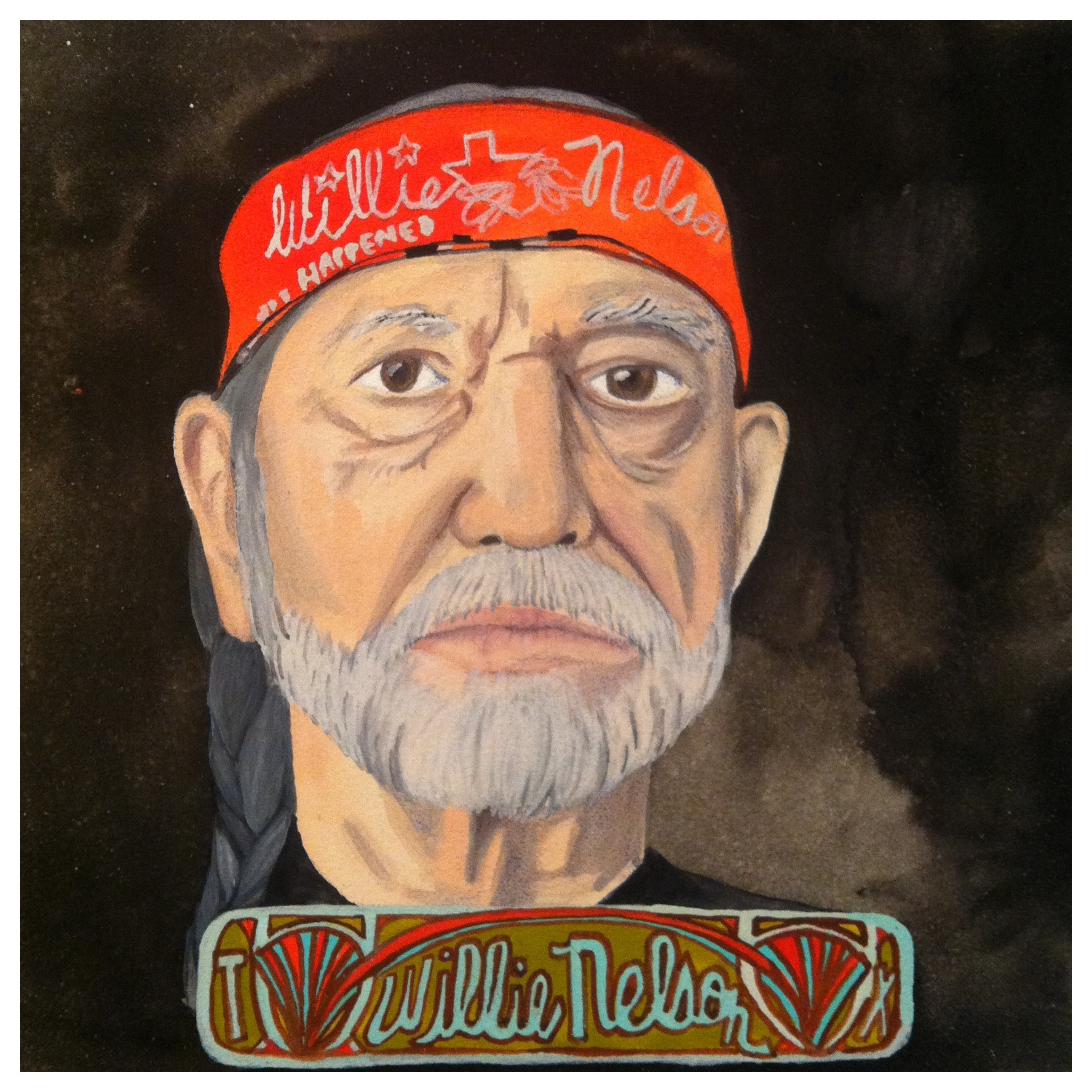 100 Southerners portraits by Lydia Walls: Willie Nelson