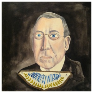 100 Southerners portraits by Lydia Walls: Woodrow Wilson