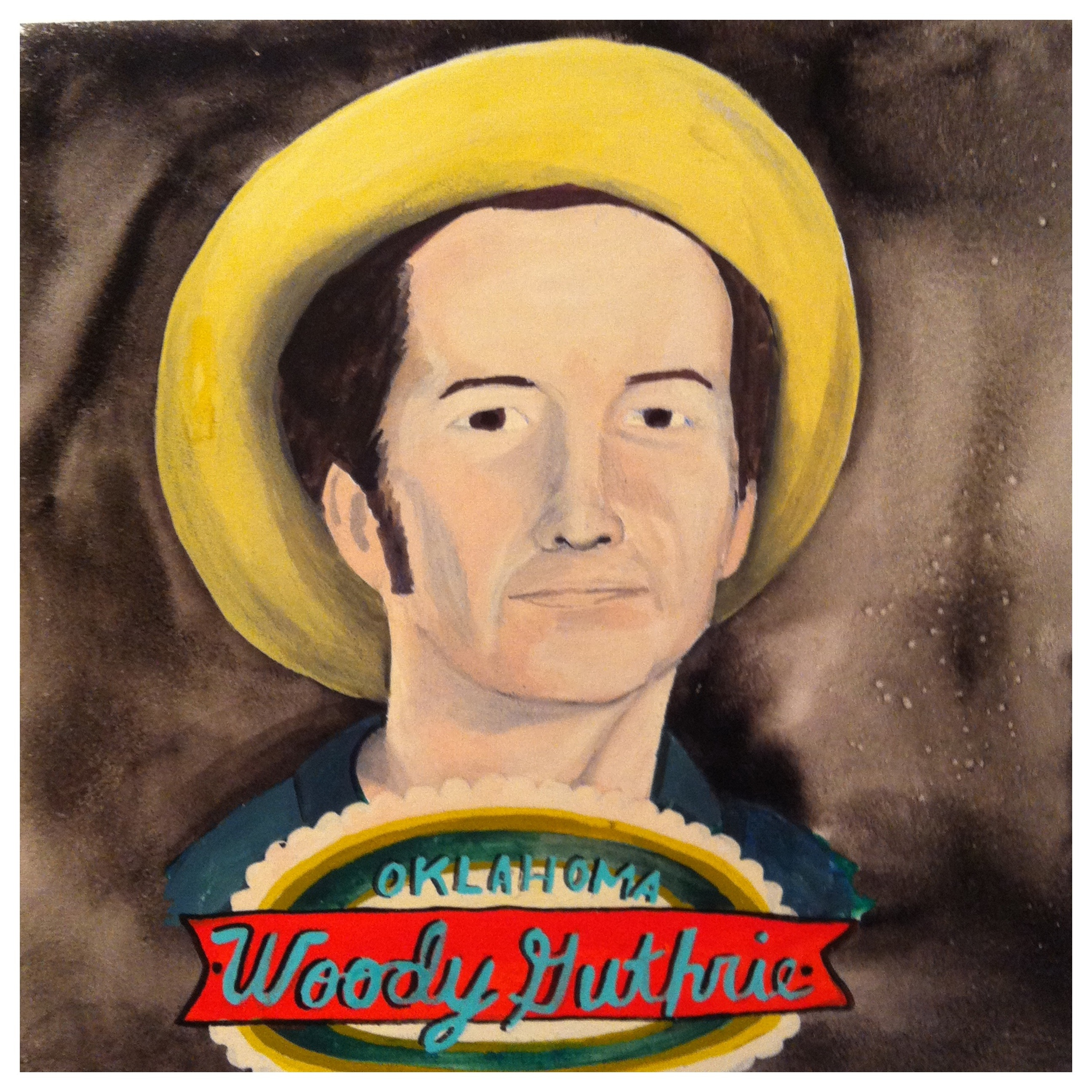 100 Southerners portraits by Lydia Walls: Woody Guthrie
