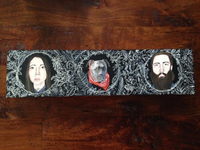 custom family portrait by Lydia Walls