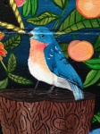 Mural at Ria's Bluebird by Lydia Walls: detail of bluebird