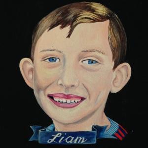 custom kid portrait by Lydia Walls