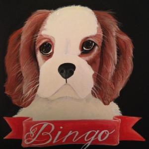 custom dog portrait by Lydia Walls