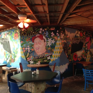Mural at Ria's Bluebird by Lydia Walls