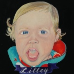 custom baby portrait by Lydia Walls