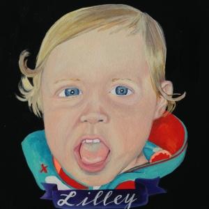 custom baby portrait by Lydia Walls