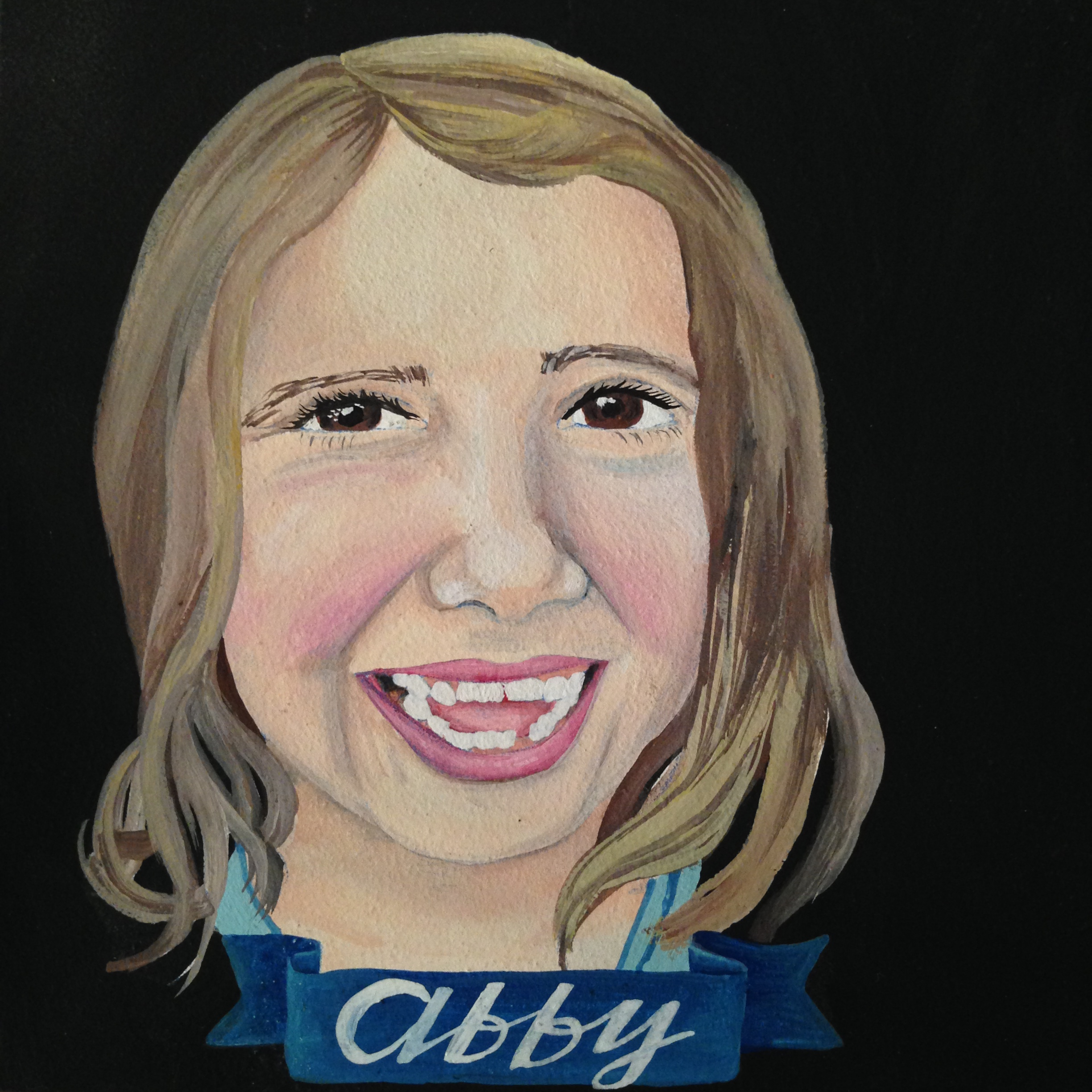 custom kid portrait by Lydia Walls