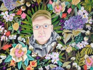 custom floral portrait by Lydia Walls