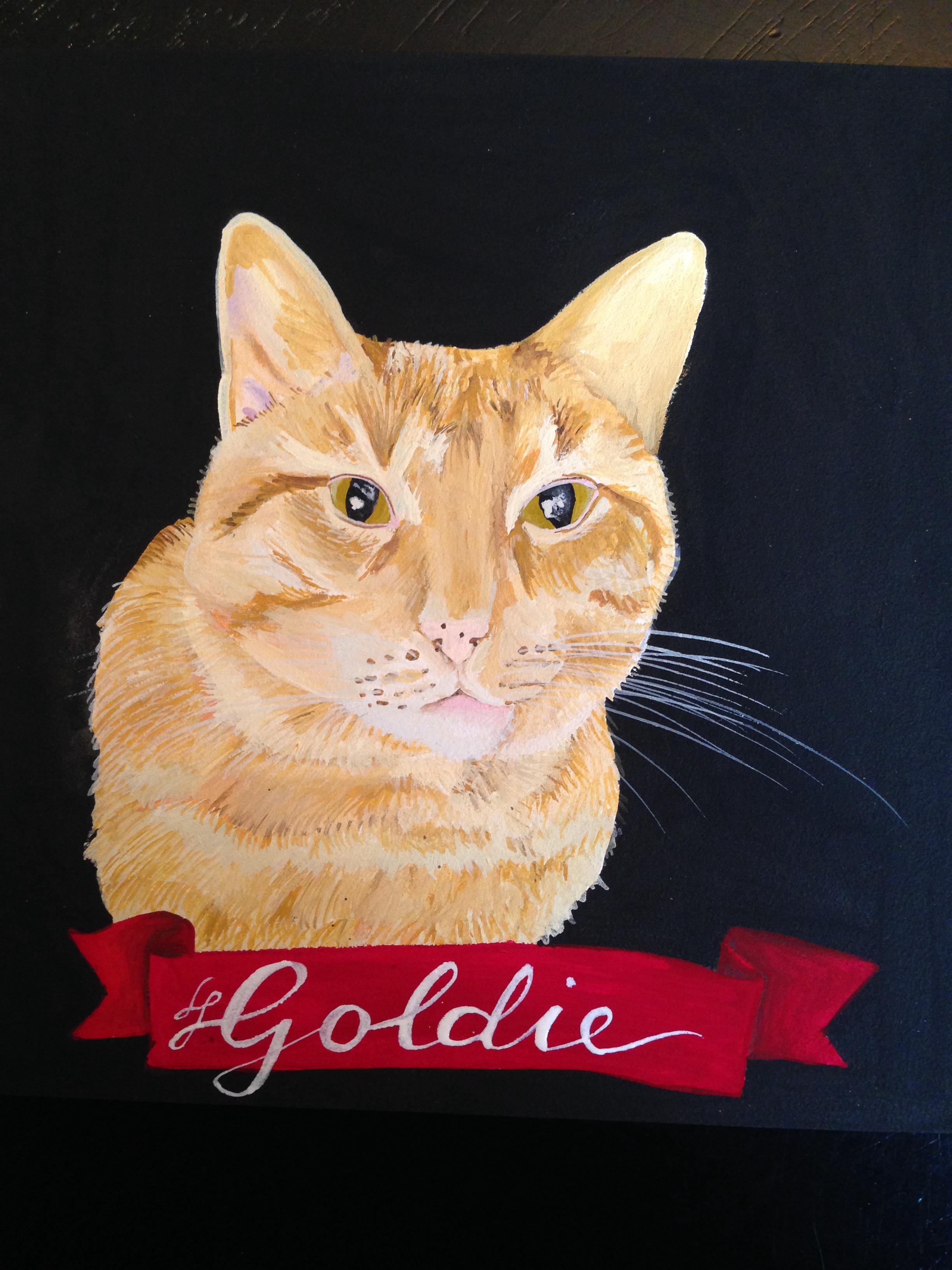custom pet portrait by Lydia Walls