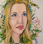 custom grownup portrait by Lydia Walls