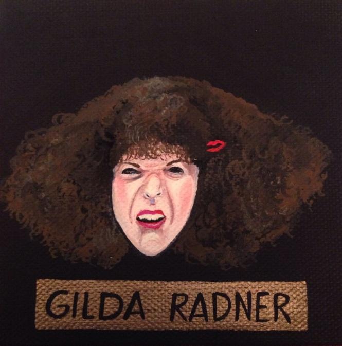 Gilda Radner painting by Lydia Walls